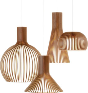 Walnut pendants | Secto Design