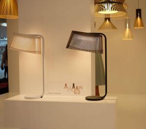 Owaloシリーズのテーブルランプ。上から見るとオーバル形です。