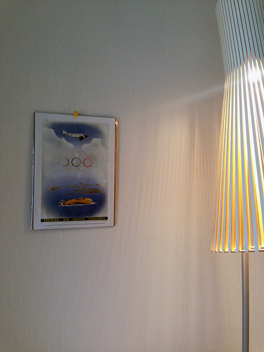 Retro poster with Secto 4210 Floor lamp.