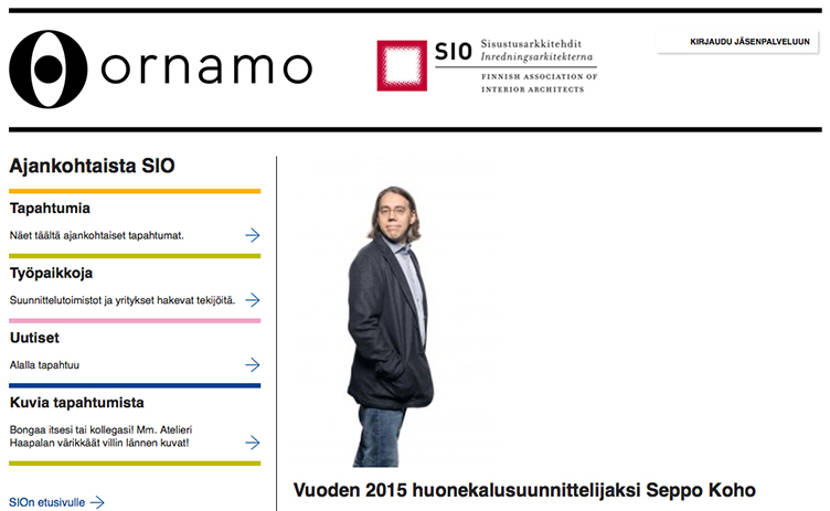 Seppo Koho The Furniture Designer of the year 2015